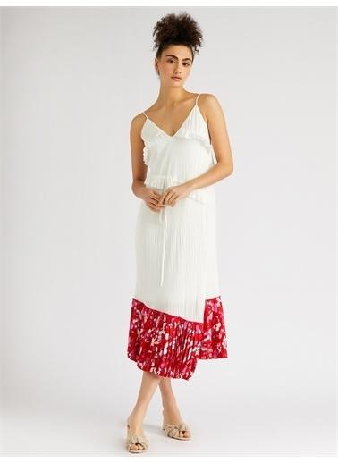 Vekem-Limited Edition Askılı Asimetrik Kesim Elbise Kırmızı